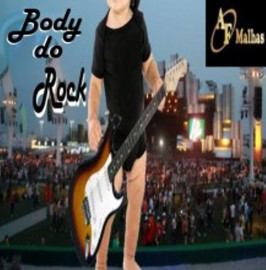 ( PROMOÇÃO)  BODY DO ROCK ( PRETO )  100% POLIESTER SUBLIMAVEL Manga Curta