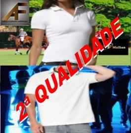 ( 2ª QUALIDADE )    POLO MASCULINA E FEMININA 100% POLIESTER SUBLIMAVEL