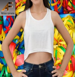 CROPPED  100% POLIESTER SUBLIMAVEL   ADULTO